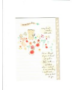 on mothers day  in my heart, I made a little wish Card  190mm X 130mm