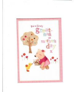 for a lovely great-nan on mothers day X Card