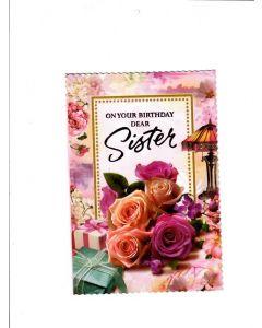 on your birthday dear sister Card