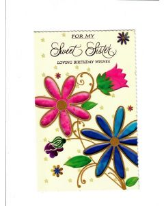sweet sister loving birthday wishes Card