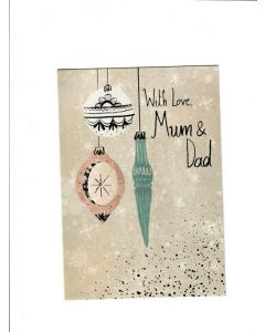 For Your Graduation Card- With Love Mum and DAD