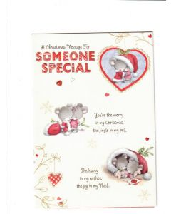 a christmas message for somone special Card