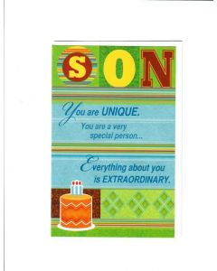 Son You Are Unique Card - From Father