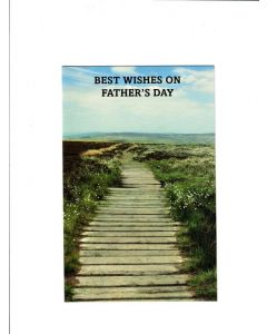 Best wishes on fathers day Card