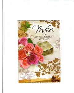 Mother on your birthday with love Card