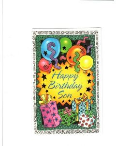 Happy Birthday Son Card - It's Party Time