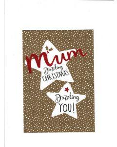 mum Dazzling Christmas Card 190mm X 130mm