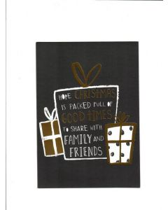 Hope christmas is packed full of Good times to share with Family nd friends Card  188mm X 133mm