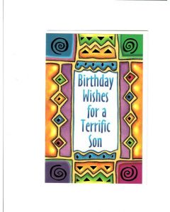 Birthday Wishes For Terrific son Card