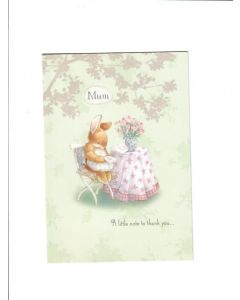 mum a little note to thank you LGS1781 Card 190mm X 135mm