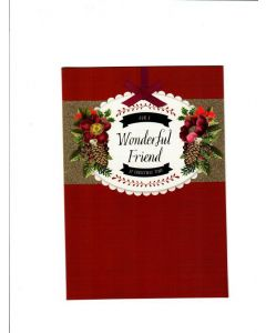 For a Wonderfull Friend at christmas time Card 189mm X 128mm