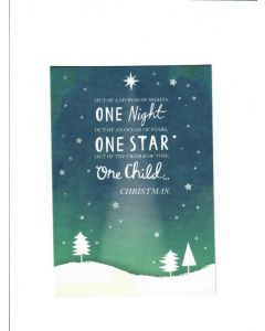One Child Christmas Card