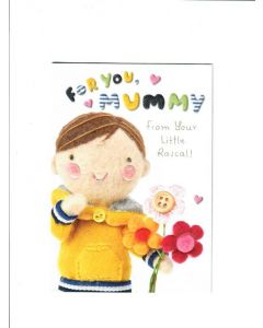 For You Mummy - From Your Little Rascal Card
