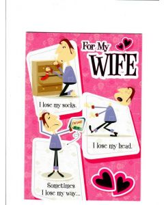 For My wife I lose my socks Card 220mm X 150mm