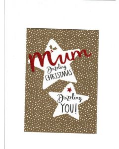 mum Dazzling Christmas Card