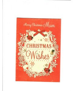 Merry Christmas Mum christmas Wishes Card