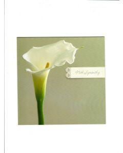 With Sympathy Card - Flowers