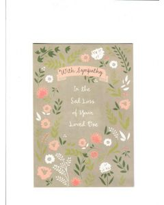 With Sympathy in the sad loss of your loved one Card