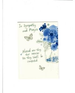 in sympathy and prayer Card