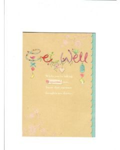 Get well while your're taking special care know that warmest thoughts are there LGS1847 Card 190mmX 130mm