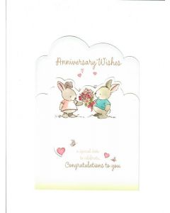 Anniversary Wishes Card - To a Lovely Couple