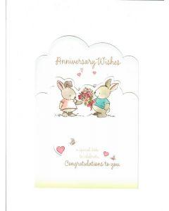 Anniversary Wishes LGS1849 Card 200mm X 135mm