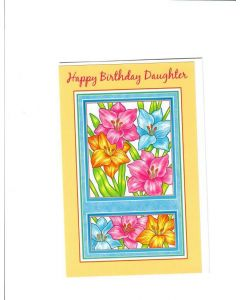 Happy Birthday Daughter Card - Lots of Flowers