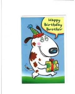 Happy birthday brother Card - From Sister