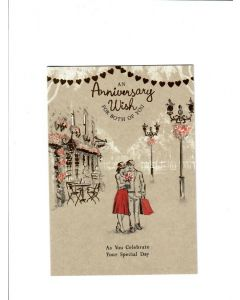 An anniversary wish for both of you LGS1861 Card 190mm X 130mm