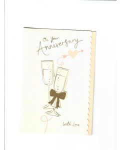 On your Anniversary Card - Cheers
