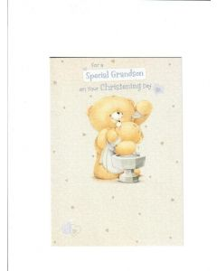 for a special grandson on your christening day LGS1865 Card 190mm X 130mm
