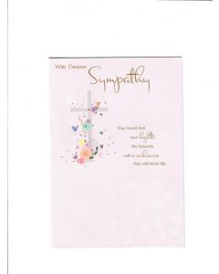 With Deepest Sympathy Card 190mm X 130mm