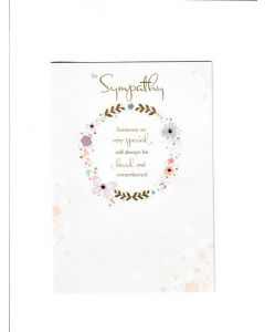 in sympathy Someone very special will Always be loved and remembered Card