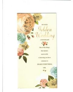 On your Golden Wedding Anniversary Card 225mm X 115mm