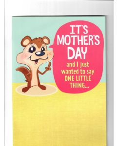 its mothers day And I just wanted to say one little thing Card