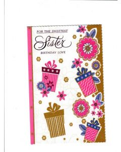 For the sweetest Sister Birthday love Card