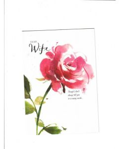 for my wife Card - With Love
