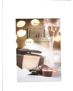 A message to say Thanks For everything Card 190mm X 130mm