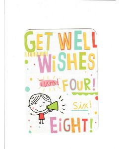 get well wishes two four six eight Card
