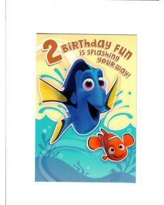 2 birthday fun is splashing your way LGS1918 Card 190mm X 130mm