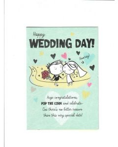 Happy wedding Day Card 195mm X 135mm