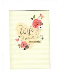For my wife on our Anniversary my one and only Card