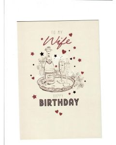 To my wife happy birthday Card