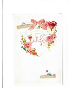 On our Anniversary Especially For my Wife LGS1937 Card 220mm X 150mm