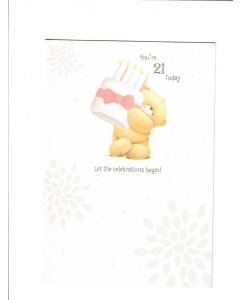 You're 21 Today Card