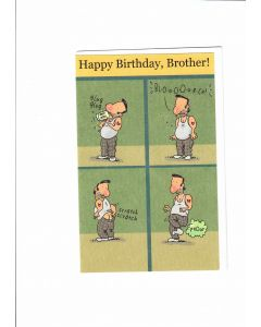 Happy birthday, brother Card