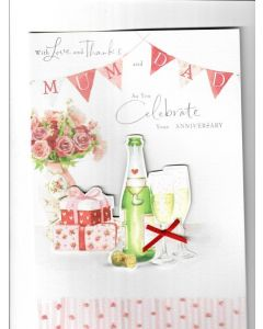 With love and thanks and as you celebrate you Anniversary Card 230mm X 160mm