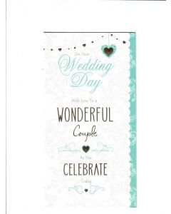 On Your Wedding Day Card - A wonderful Couple