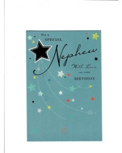 for a special nephew with love on your birthday Card
