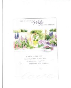For my lovely wife on your birthday Card -  A special Wish Card